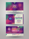 Identity templates with blurred abstract Royalty Free Stock Photography