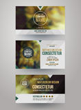 Identity templates with blurred abstract Royalty Free Stock Images