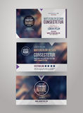 Identity templates with blurred abstract Royalty Free Stock Photos