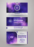 Identity templates with blurred abstract Royalty Free Stock Image