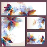 Identity templates with colorful floral design Royalty Free Stock Images
