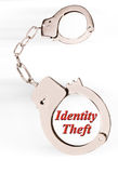 Identity Theft. Identity theft and handcuffs stock images