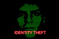 Identity Theft. Concept image highlighting the risk of identity theft Stock Images