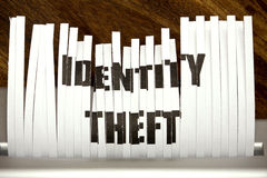 Identity theft. Concept, shredded personal information stock photo