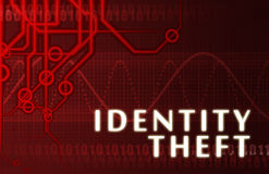 Identity Theft. Concept Abstract Background on Red royalty free illustration