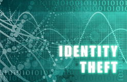 Identity Theft. Abstract on A Digital Background stock illustration