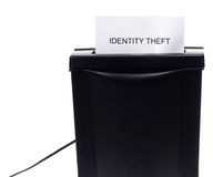 Identity Theft. Concept image of identity theft being stolen or destroyed Stock Images
