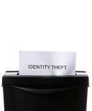 Identity Theft. Concept image of a shredder destroying personal information with copyspace above Royalty Free Stock Photo