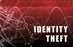 Identity Theft Abstract. On A Digital Background royalty free illustration