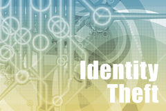 Identity Theft Abstract. Background in Blue Color royalty free illustration