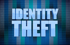 Identity theft binary concept in word. Illustration design Royalty Free Stock Photography