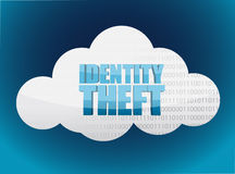 Identity theft Cloud glossy icon Royalty Free Stock Image