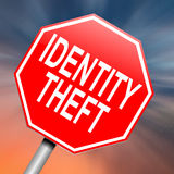 Identity theft concept. Illustration depicting a roadsign with an identity theft concept. Abstract background Royalty Free Stock Image