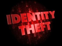 Identity Theft on Dark Digital Background. Stock Photos
