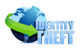 Identity theft globe sign Royalty Free Stock Image