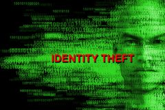 Identity Theft, Hacking, Hacker, Computers. Abstract concept for identity theft, cyber security, hacking, computer networks and networking, and attacks stock photography