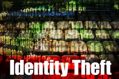 Identity Theft Hot Online Web Security Topic. Identity Theft, a hot online web security topic for the internet Stock Photos