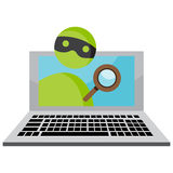 Identity Theft Over Internet. An image representing personal identity theft over the internet stock illustration