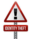 Identity theft sign. Illustration design over white Royalty Free Stock Image