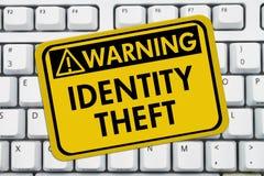 Identity Theft Warning Sign Stock Photo