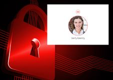 Identity Verify security App Interface. Digital composite of Identity Verify security App Interface Royalty Free Stock Image
