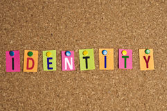 Identity word Royalty Free Stock Photography
