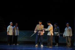 Ideologisk arbetsJiangxi opera en besman Arkivfoton
