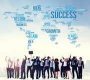 Idéer Team Business Plans Connect Concept för framgångtillväxtvision Royaltyfri Foto