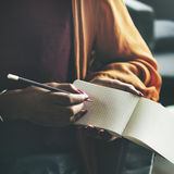 Ides Writing Thinking Diary Connection Concept Royalty Free Stock Images