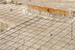 idewalk construction for pavement work Stock Photography