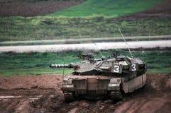 IDF准备好在加沙地带的地面侵略 库存图片
