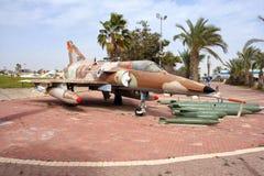 IDF Kfir fighter jet. HATZERIM, ISRAEL - JANUARY 27, 2011: Israel Air Force Kfir C7 fighter jet  on display in the Israeli Air Force Museum. Kfir is the first Stock Photos