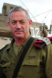 IDF szef personel - Ogólny Benny Gantz Obrazy Royalty Free
