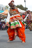 Idian man dancing outside Royalty Free Stock Images