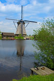 Idilyc scene with dutch windmill Stock Photography
