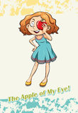 Idiom apple of my eye Royalty Free Stock Images