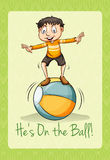 Idiom on the ball Royalty Free Stock Photos