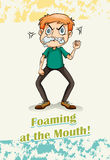 Idiom foaming at the mouth Stock Photography