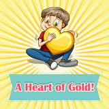 Idiom heart of gold Stock Photography