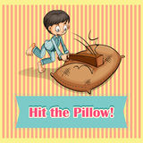 Idiom hit the pillow Royalty Free Stock Photography
