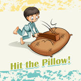 Idiom hit the pillow Stock Images