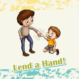 Idiom lend a hand Stock Photos