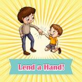 Idiom lend a hand Stock Photography
