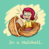 Idiom in a nutshell Stock Photo