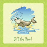 Idiom off the hook Stock Image