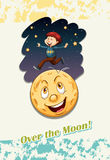 Idiom over the moon Stock Photography