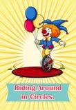 Idiom riding around in circles Stock Image