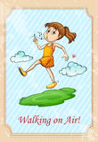 Idiom walking on air Royalty Free Stock Images