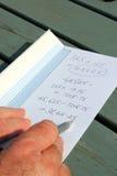 Idioma, cálculo de Detrás-de- envelope. Imagen de archivo libre de regalías