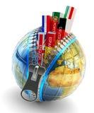Idiomas extranjeros que aprenden y concepto de la traducción, icono en línea del traductor ilustración del vector